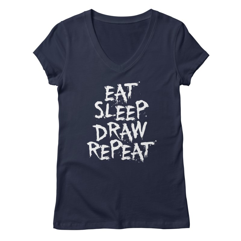 Life of an Artist Women's Regular V-Neck by Requiem's Thread Shop