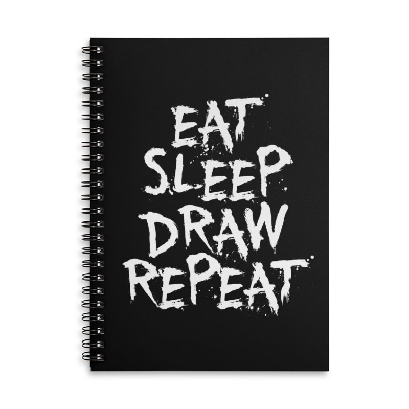 Life of an Artist Accessories Lined Spiral Notebook by Requiem's Thread Shop