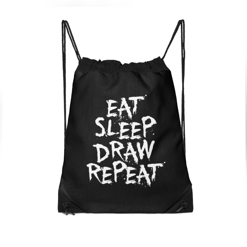 Life of an Artist Accessories Drawstring Bag Bag by Requiem's Thread Shop