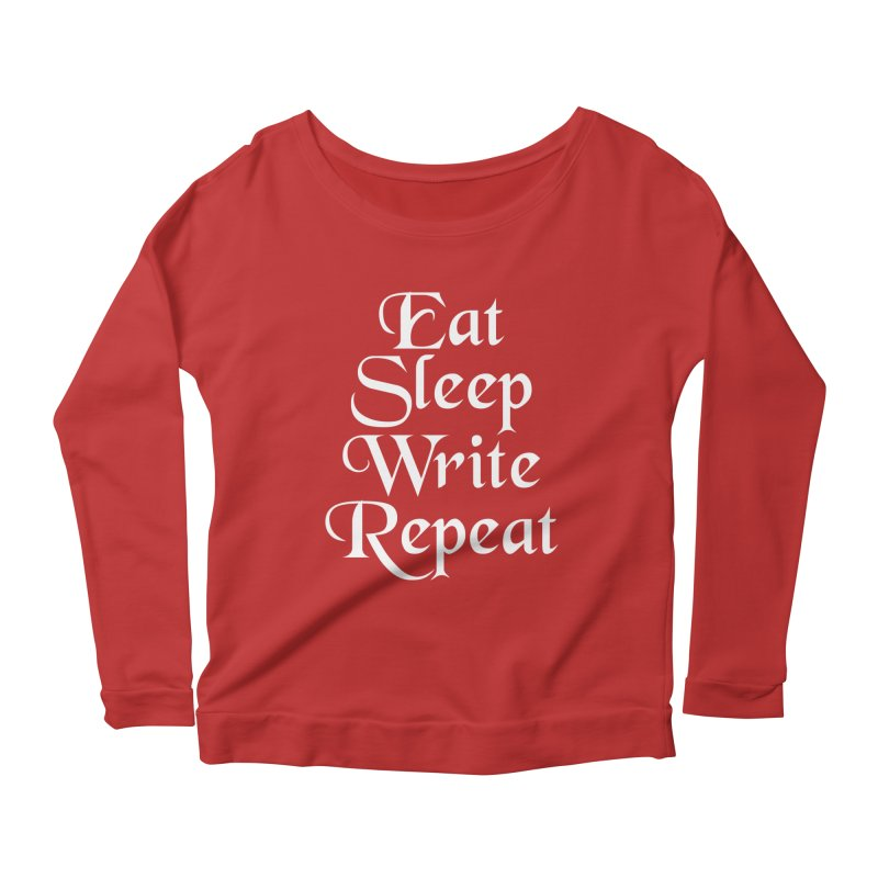 Daily Mantra Women's Scoop Neck Longsleeve T-Shirt by Requiem's Thread Shop