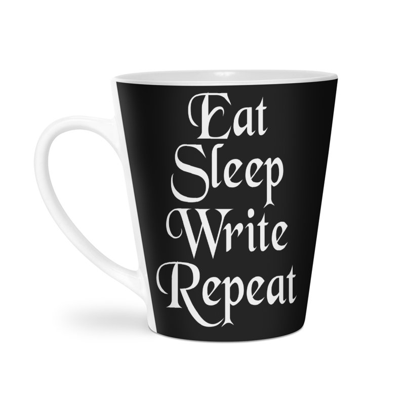 Daily Mantra Accessories Latte Mug by Requiem's Thread Shop