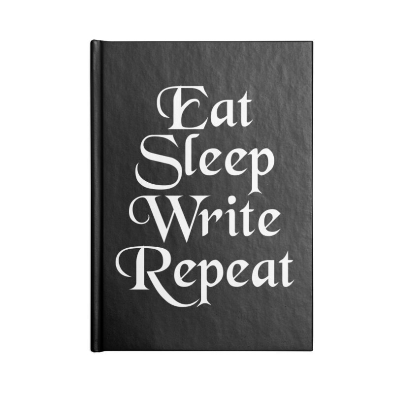 Daily Mantra Accessories Lined Journal Notebook by Requiem's Thread Shop