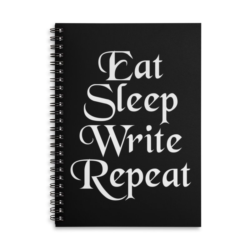 Daily Mantra Accessories Lined Spiral Notebook by Requiem's Thread Shop