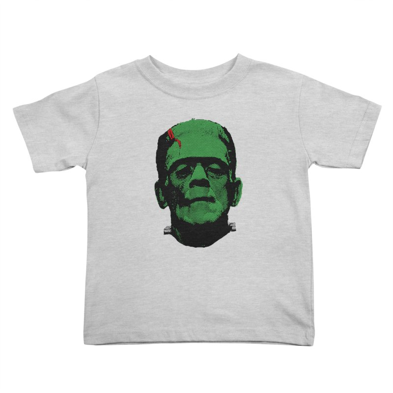 Frank in Kids Toddler T-Shirt Heather Grey by Reservoir Geeks