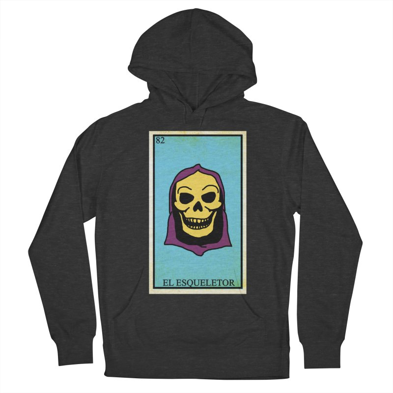 El Esqueletor Women's French Terry Pullover Hoody by Reservoir Geeks