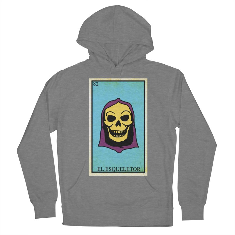 El Esqueletor Men's French Terry Pullover Hoody by Reservoir Geeks