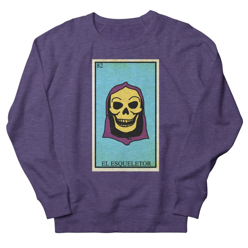 El Esqueletor Women's French Terry Sweatshirt by Reservoir Geeks