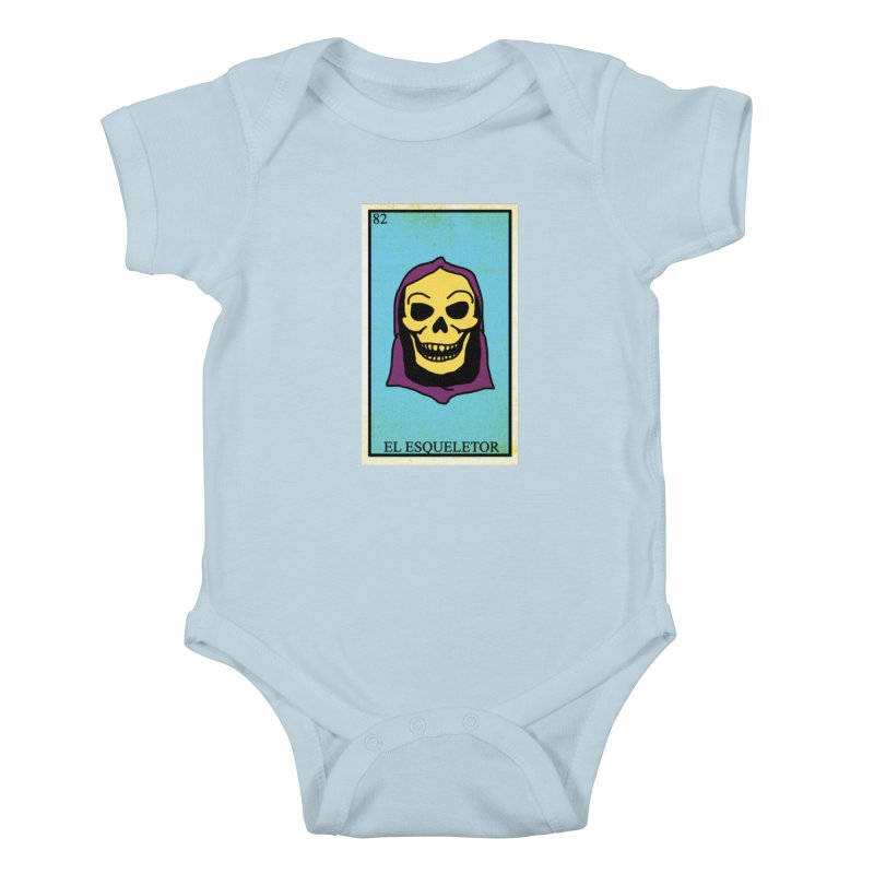 El Esqueletor Kids Baby Bodysuit by Reservoir Geeks