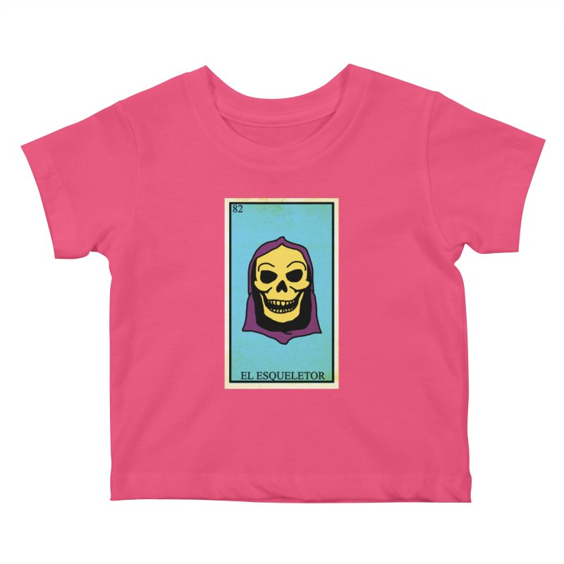 El Esqueletor Kids Baby T-Shirt by Reservoir Geeks