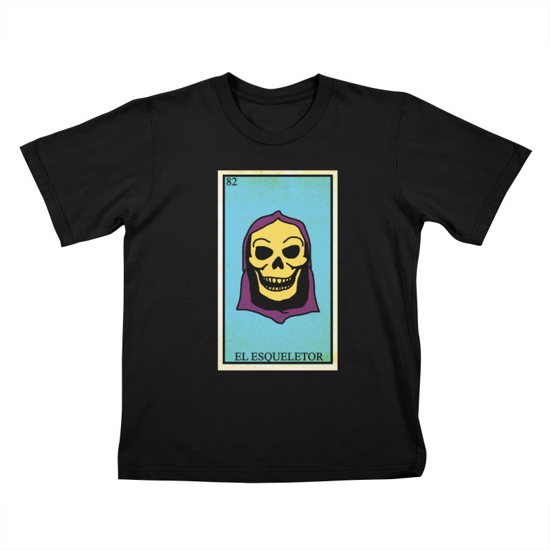 El Esqueletor Kids T-Shirt by Reservoir Geeks