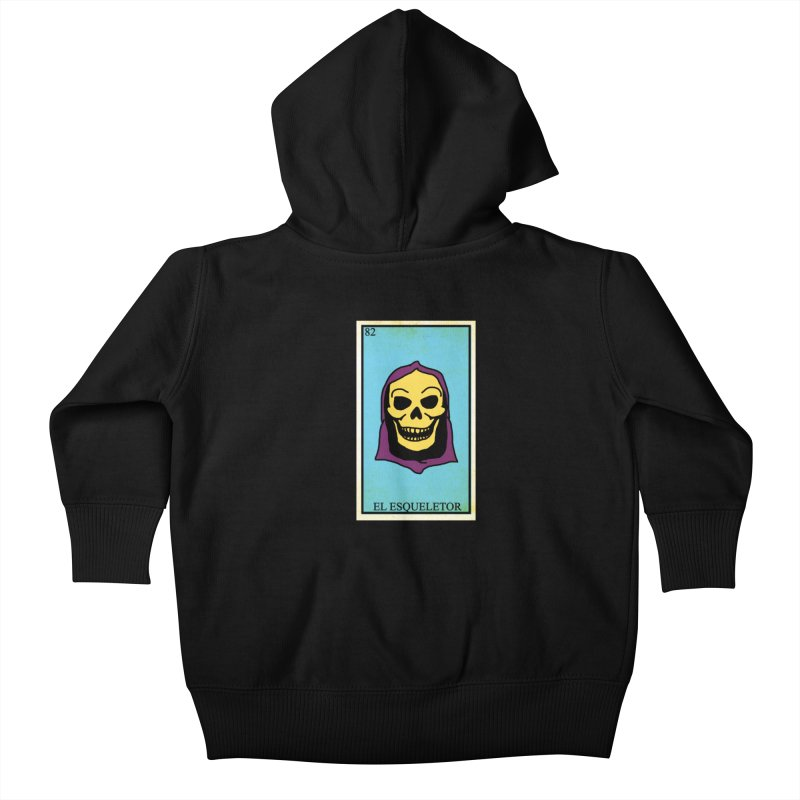 El Esqueletor Kids Baby Zip-Up Hoody by Reservoir Geeks