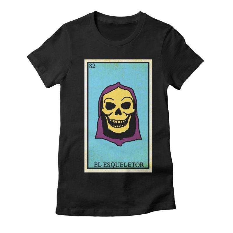 El Esqueletor Women's Fitted T-Shirt by Reservoir Geeks