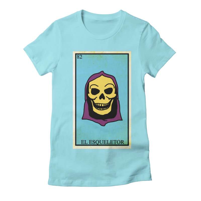 El Esqueletor Women's Fitted T-Shirt by Reservoir Geeks