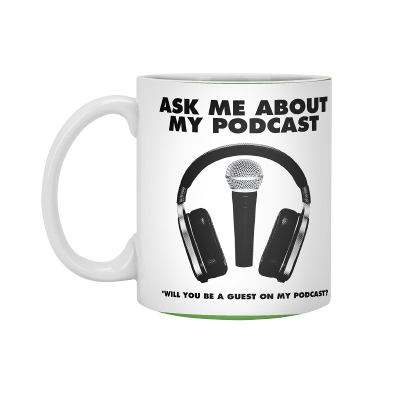 PODCASTER Accessories Standard Mug by Reservoir Geeks
