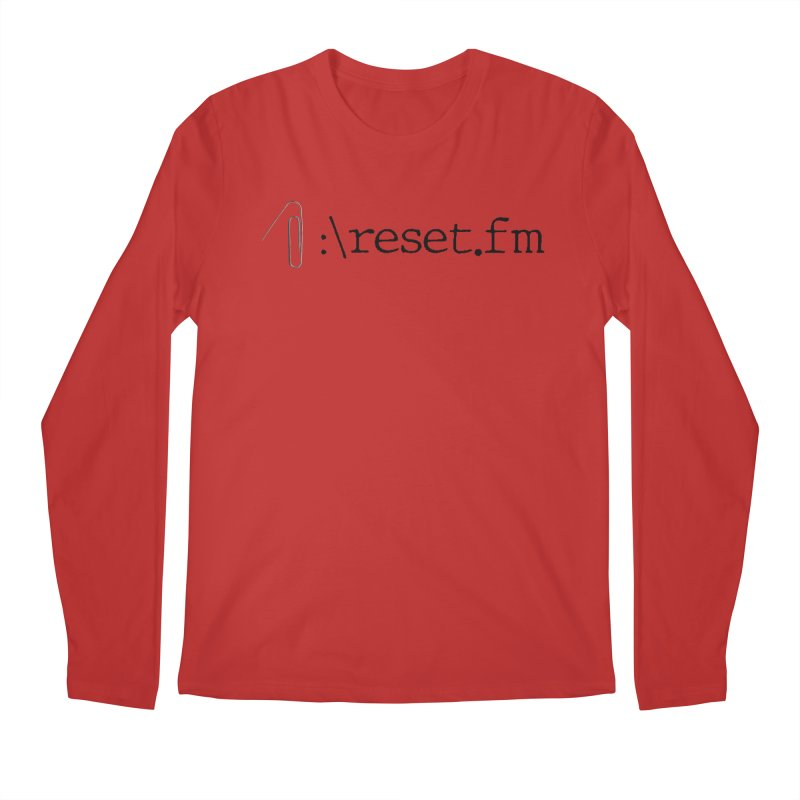 reset.fm Limited Edition Men's Longsleeve T-Shirt by reset's Artist Shop