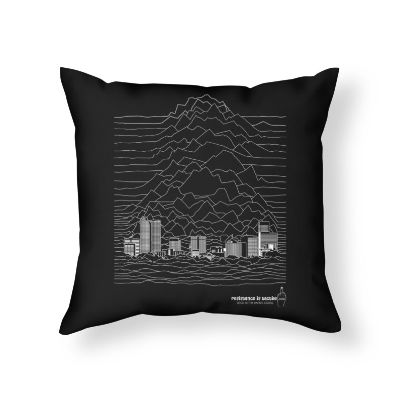 Joy Denversion Home Throw Pillow by Resistance is Tactile
