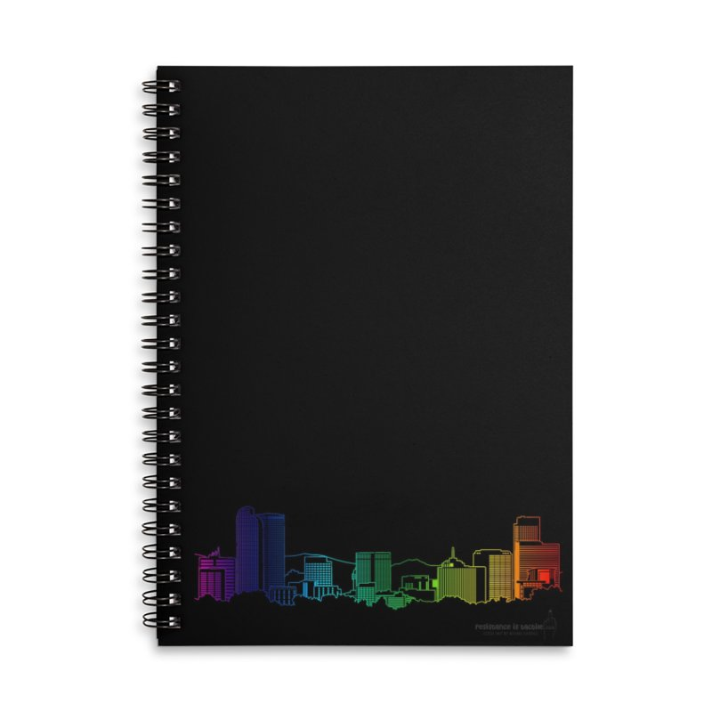 Denver Vapes Accessories Lined Spiral Notebook by Resistance is Tactile