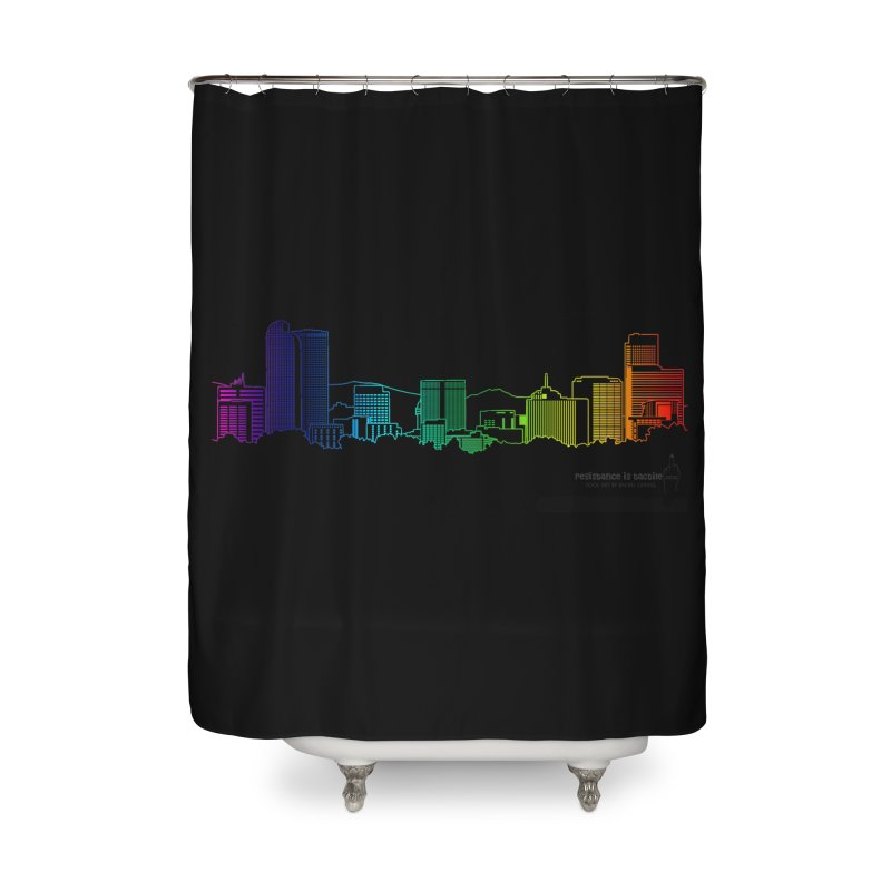 Denver Vapes Home Shower Curtain by Resistance is Tactile