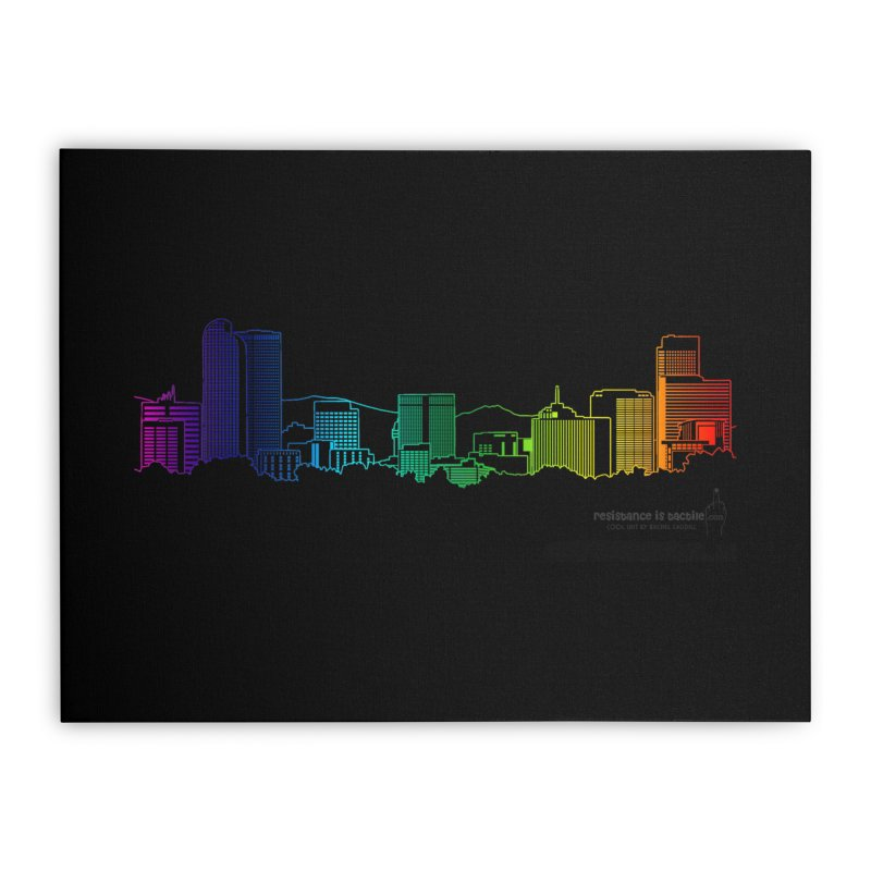 Denver Vapes Home Stretched Canvas by Resistance is Tactile