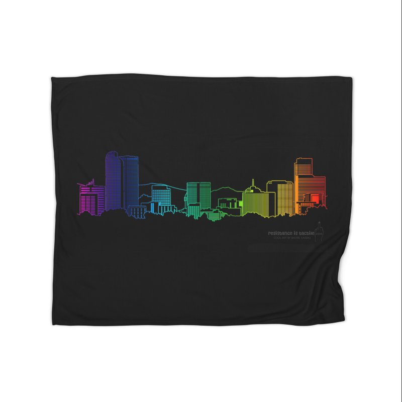 Denver Vapes Home Fleece Blanket Blanket by Resistance is Tactile