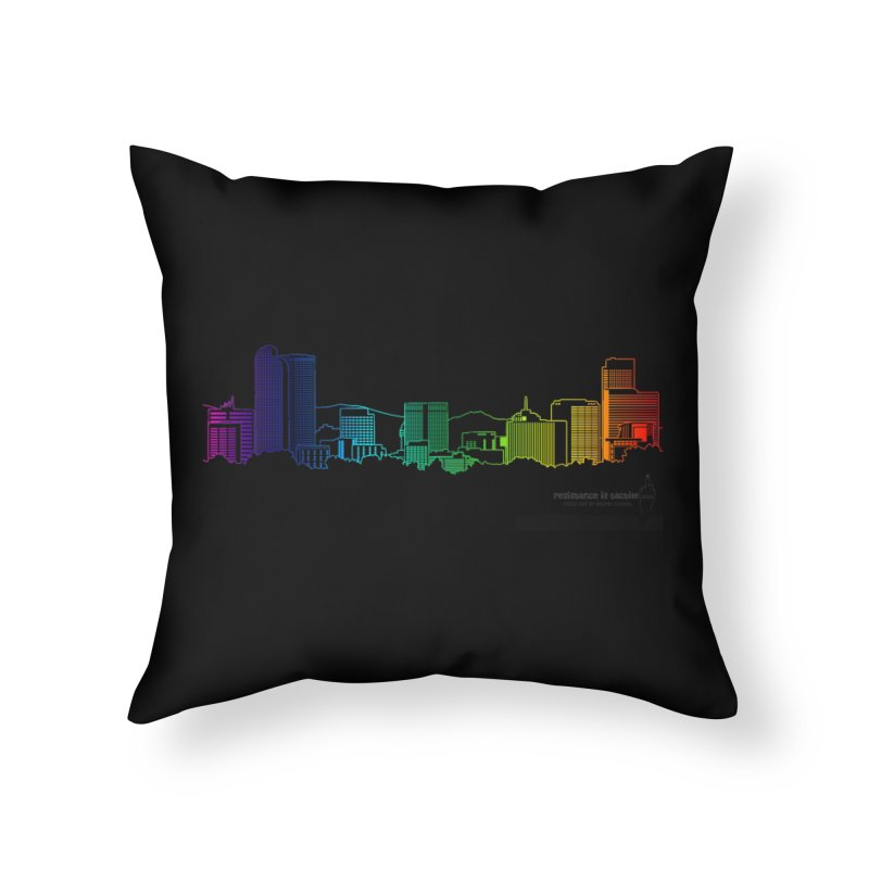 Denver Vapes Home Throw Pillow by Resistance is Tactile