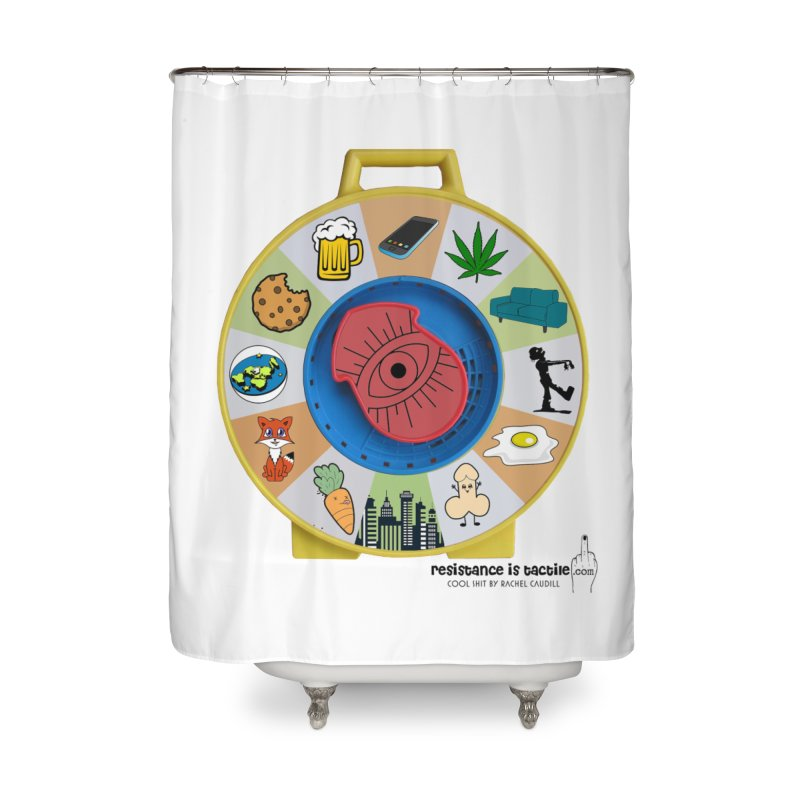See Something, Say Something Home Shower Curtain by Resistance is Tactile