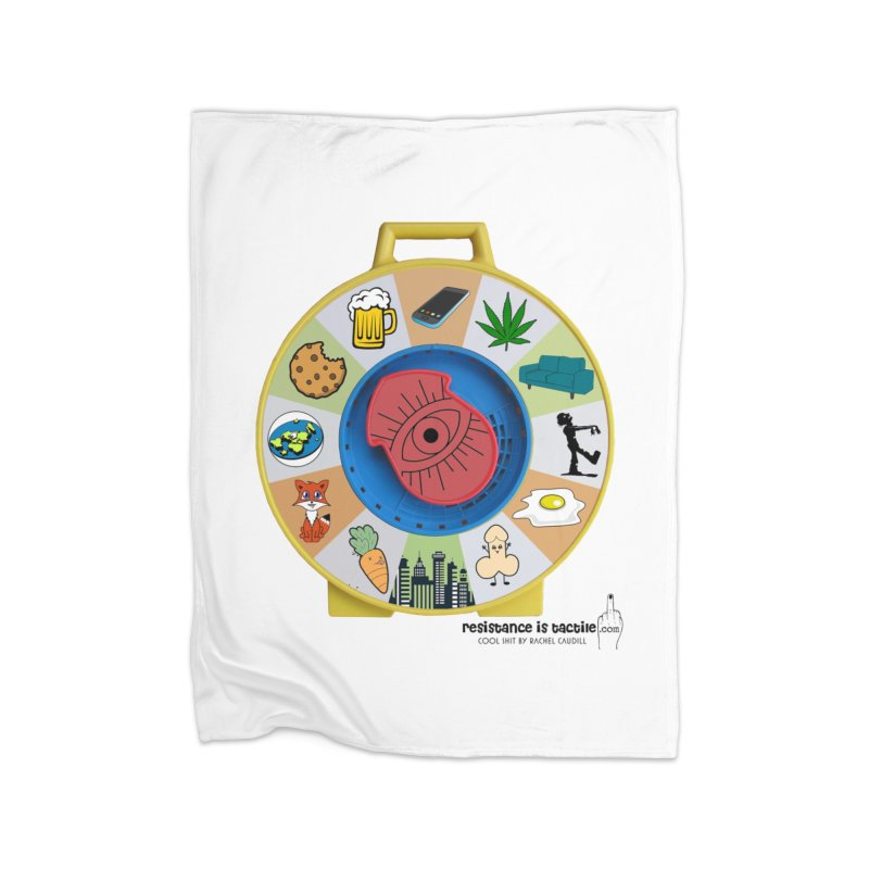 See Something, Say Something Home Blanket by Resistance is Tactile