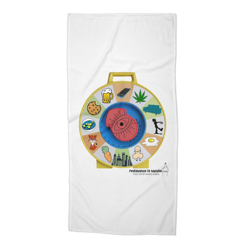 See Something, Say Something Accessories Beach Towel by Resistance is Tactile