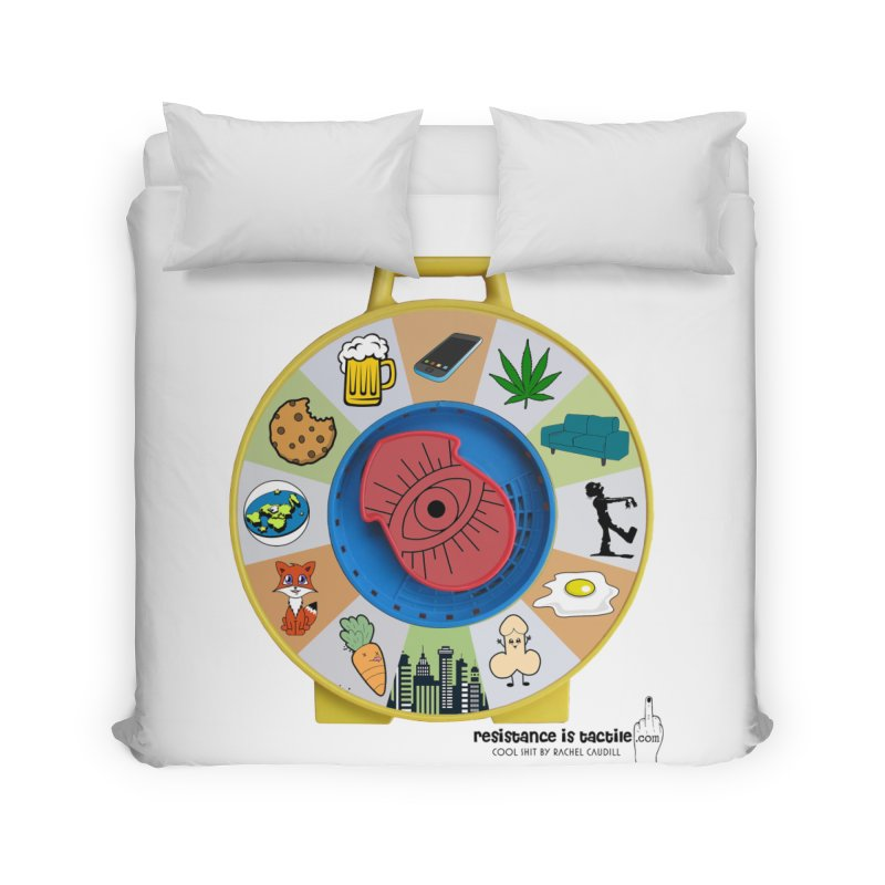 See Something, Say Something Home Duvet by Resistance is Tactile