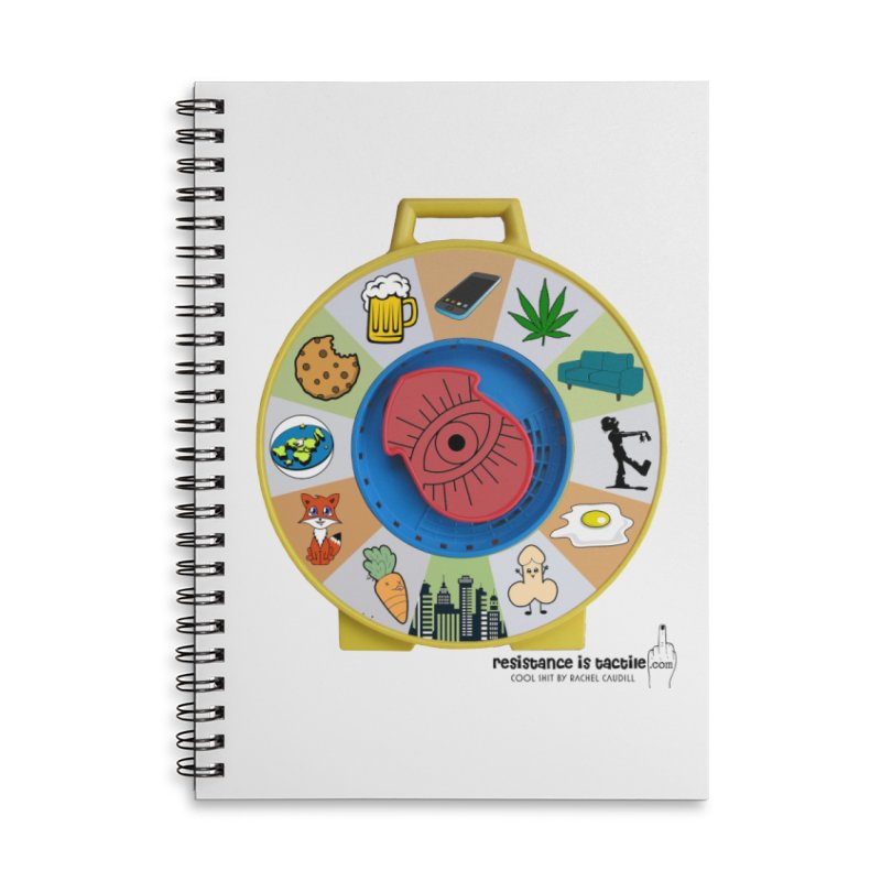 See Something, Say Something Accessories Lined Spiral Notebook by Resistance is Tactile