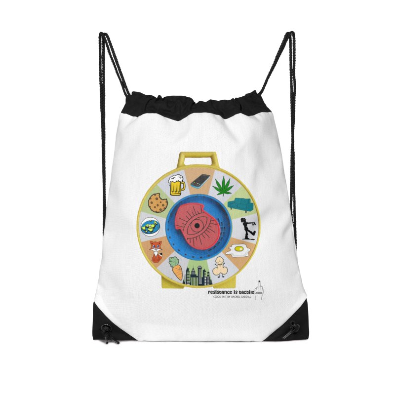 See Something, Say Something Accessories Drawstring Bag Bag by Resistance is Tactile