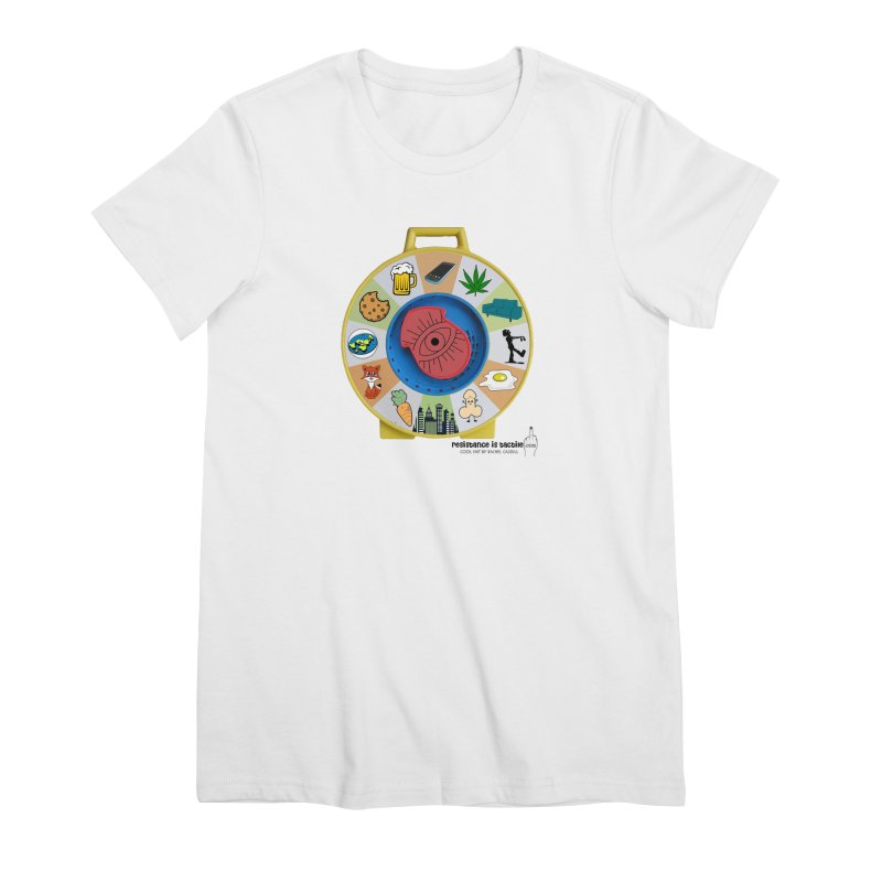 See Something, Say Something Women's Premium T-Shirt by Resistance is Tactile