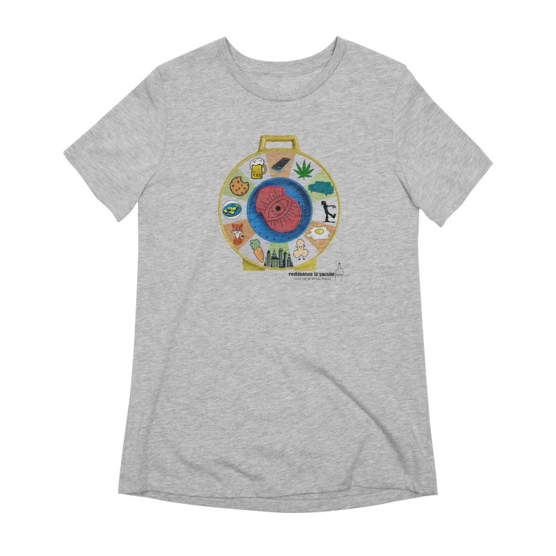 See Something, Say Something Women's Extra Soft T-Shirt by Resistance is Tactile