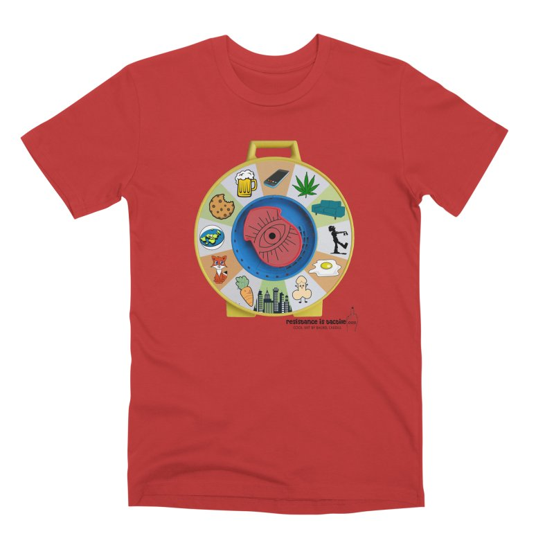 See Something, Say Something Men's Premium T-Shirt by Resistance is Tactile