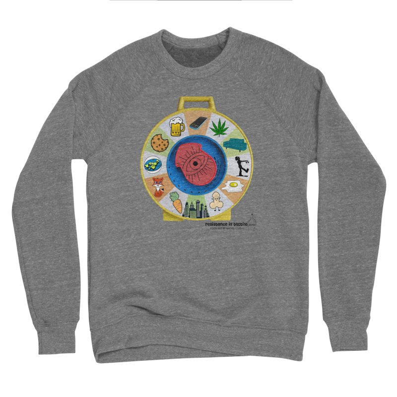 See Something, Say Something Men's Sponge Fleece Sweatshirt by Resistance is Tactile