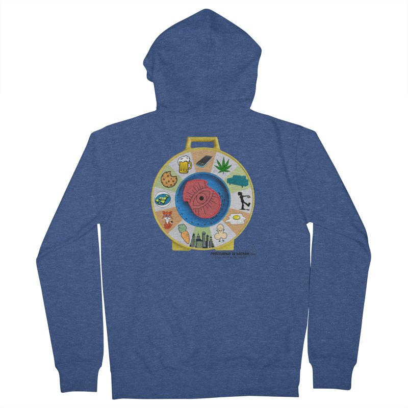 See Something, Say Something Women's French Terry Zip-Up Hoody by Resistance is Tactile
