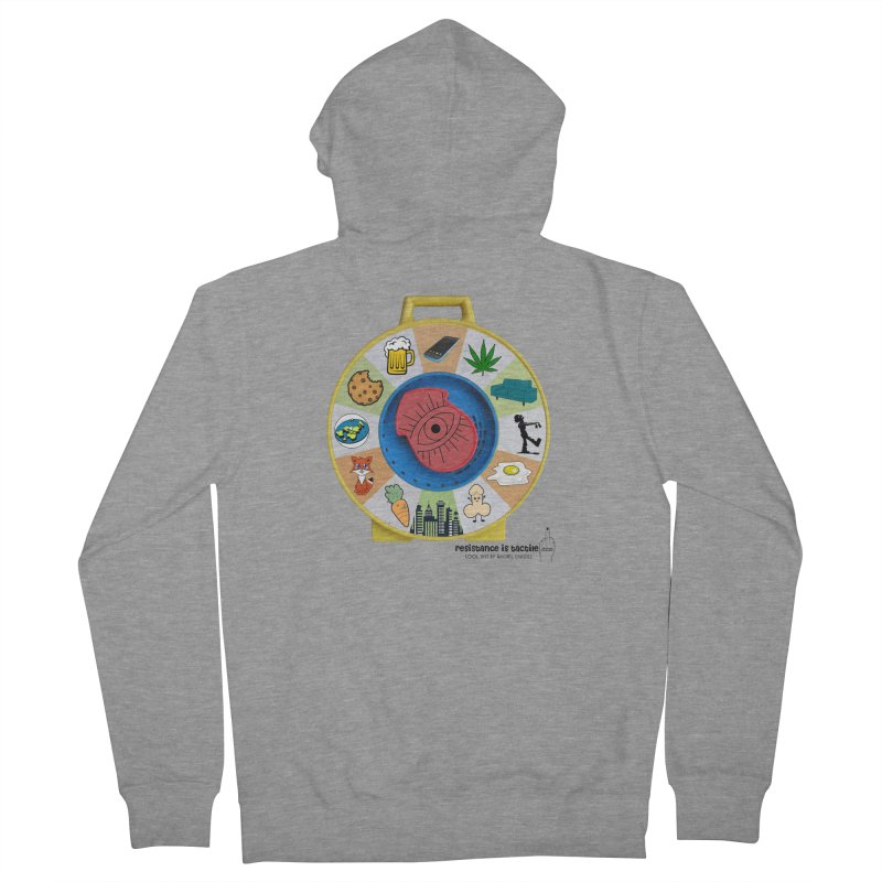 See Something, Say Something Men's French Terry Zip-Up Hoody by Resistance is Tactile