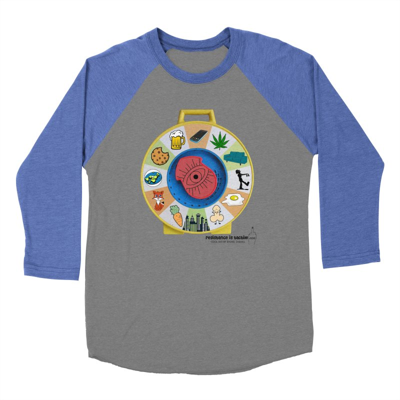 See Something, Say Something Women's Baseball Triblend Longsleeve T-Shirt by Resistance is Tactile