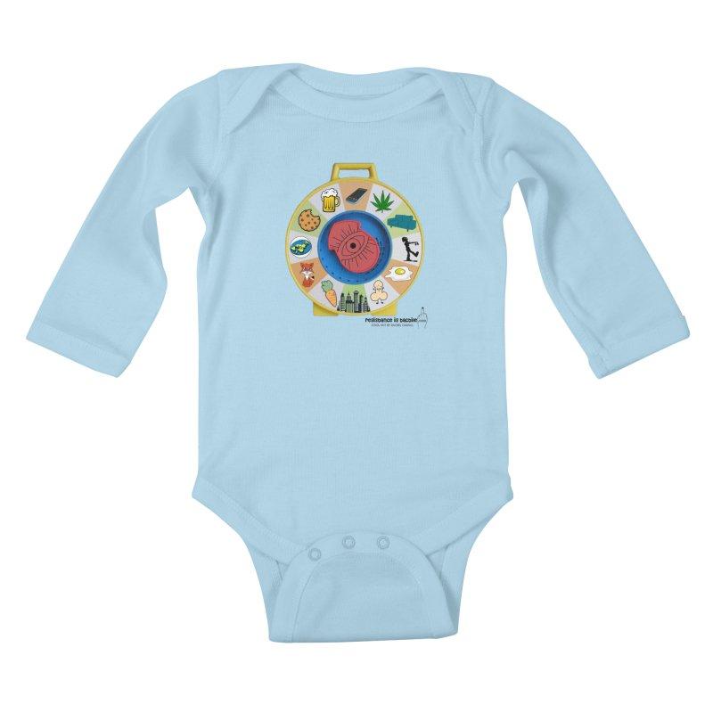 See Something, Say Something Kids Baby Longsleeve Bodysuit by Resistance is Tactile