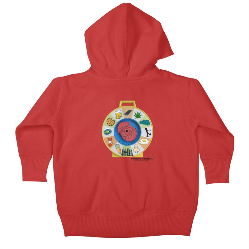 See Something, Say Something Kids Baby Zip-Up Hoody by Resistance is Tactile