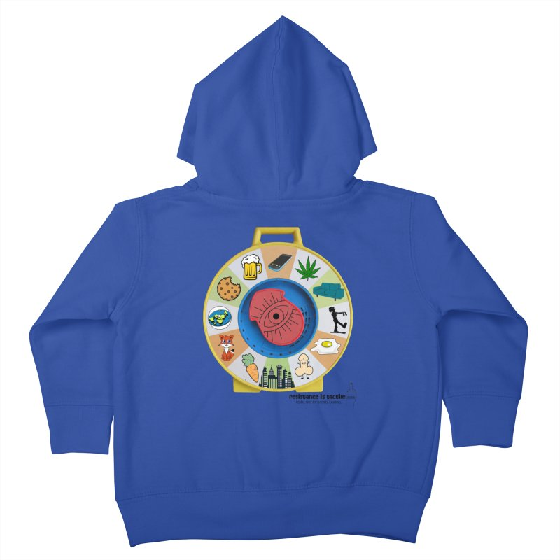 See Something, Say Something Kids Toddler Zip-Up Hoody by Resistance is Tactile