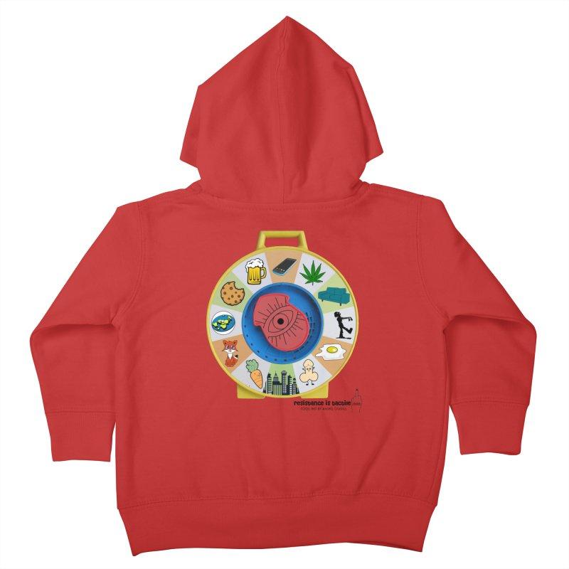 See Something, Say Something Kids Toddler Zip-Up Hoody by Resistance is Tactile