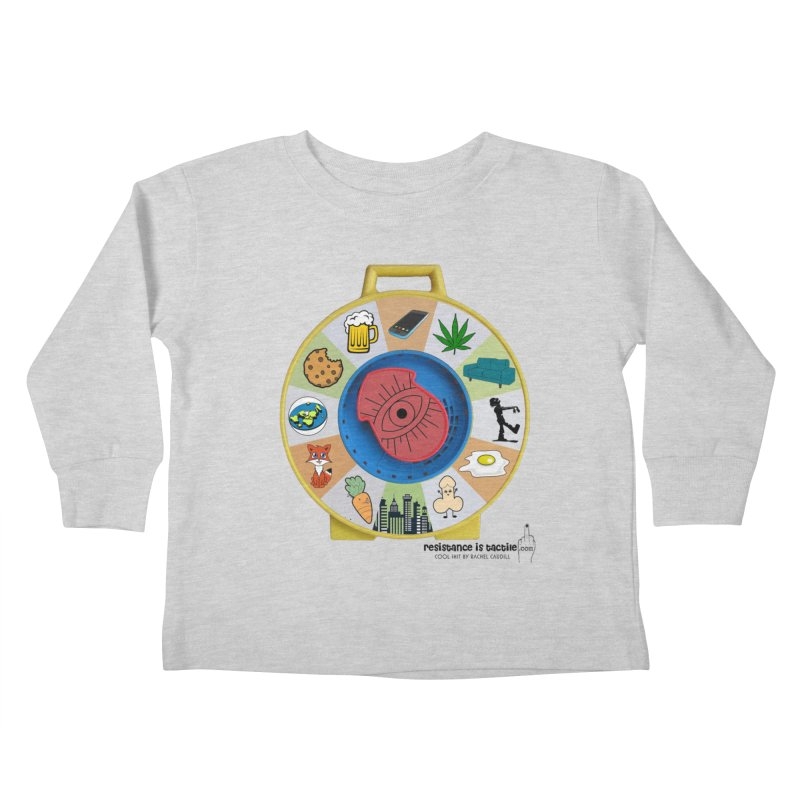 See Something, Say Something Kids Toddler Longsleeve T-Shirt by Resistance is Tactile