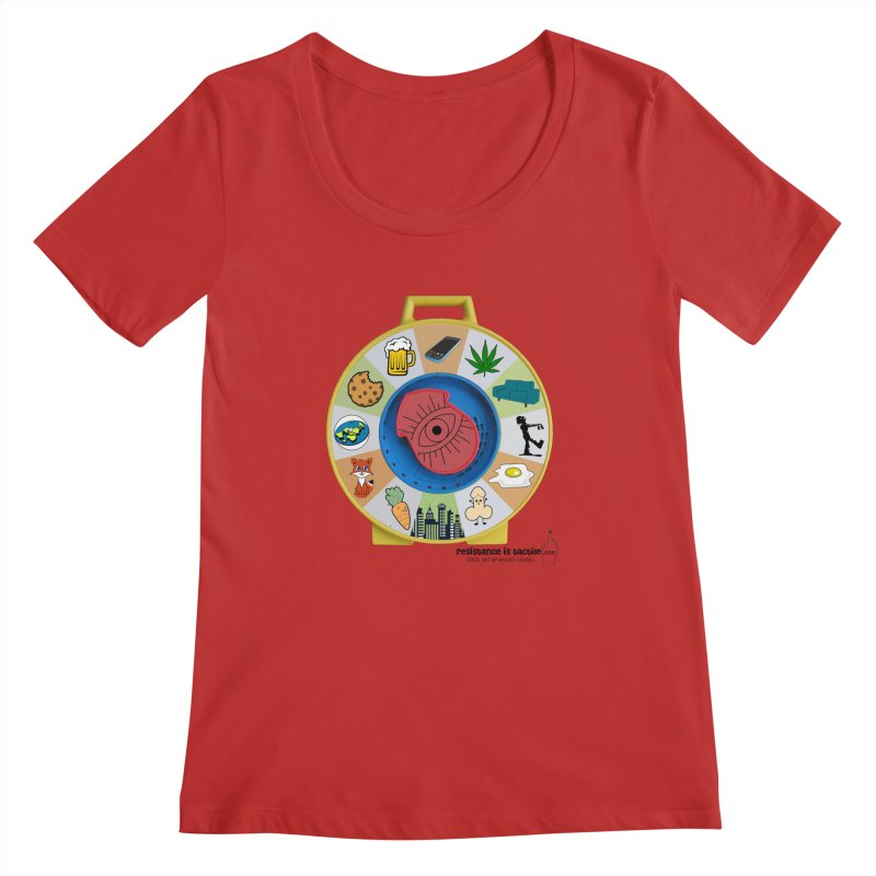 See Something, Say Something Women's Regular Scoop Neck by Resistance is Tactile
