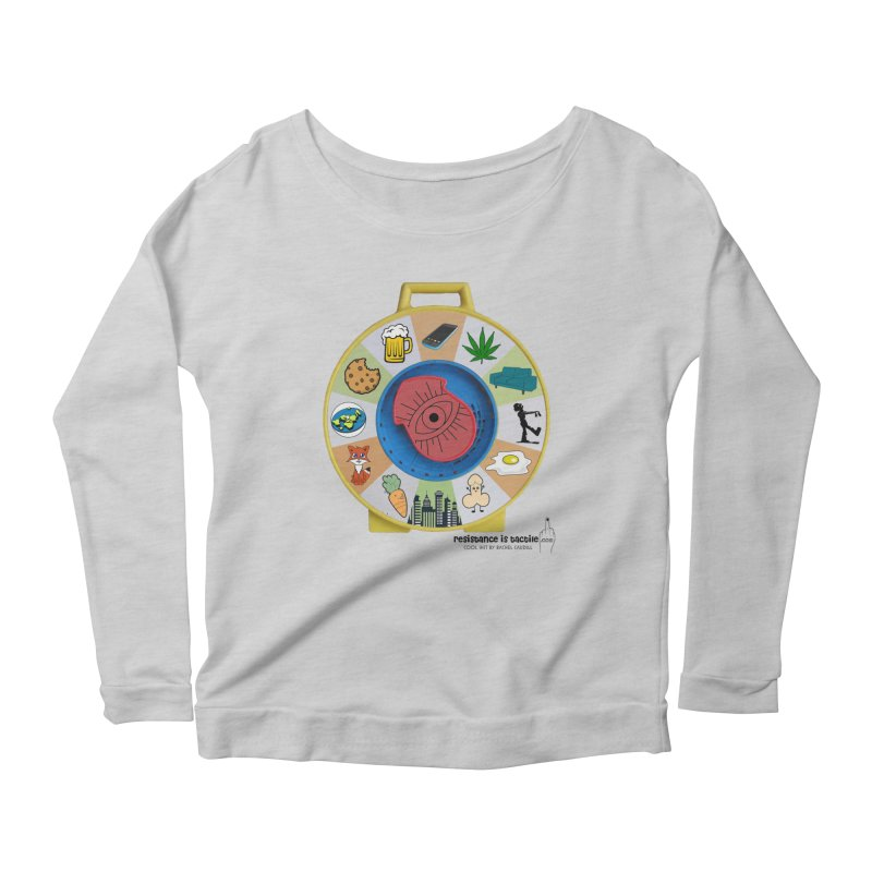 See Something, Say Something Women's Scoop Neck Longsleeve T-Shirt by Resistance is Tactile
