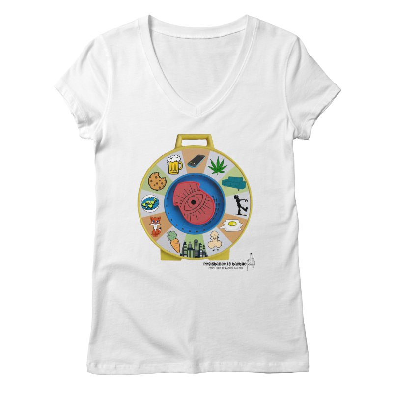 See Something, Say Something Women's Regular V-Neck by Resistance is Tactile