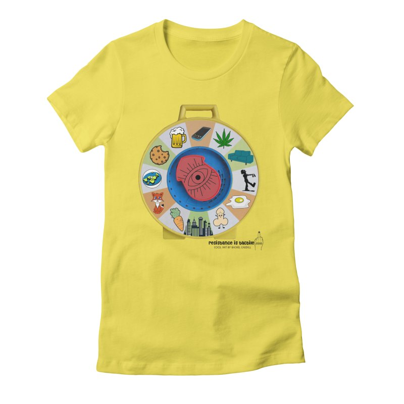 See Something, Say Something Women's Fitted T-Shirt by Resistance is Tactile