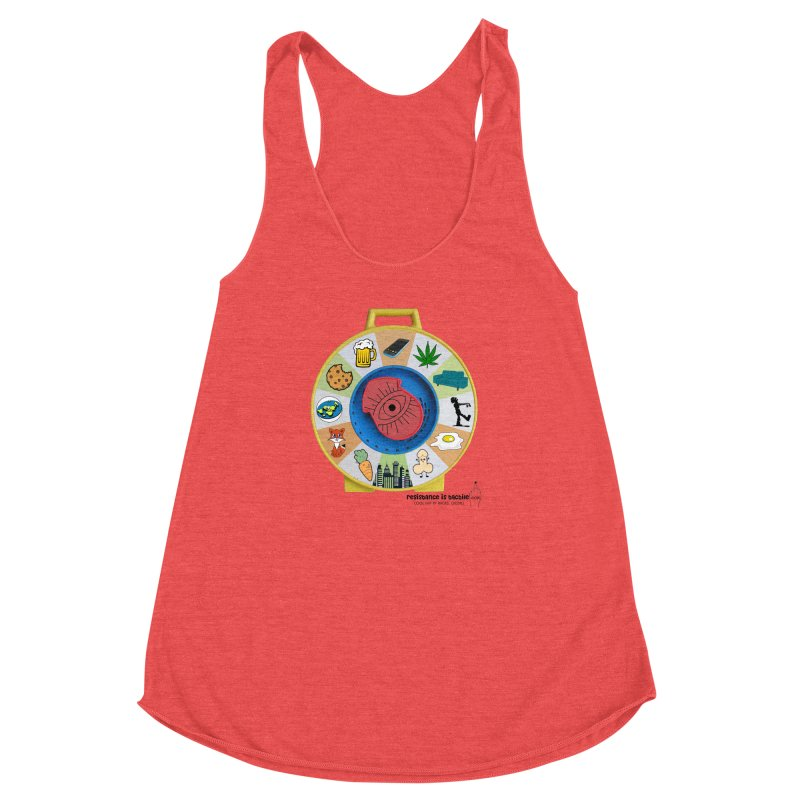 See Something, Say Something Women's Racerback Triblend Tank by Resistance is Tactile