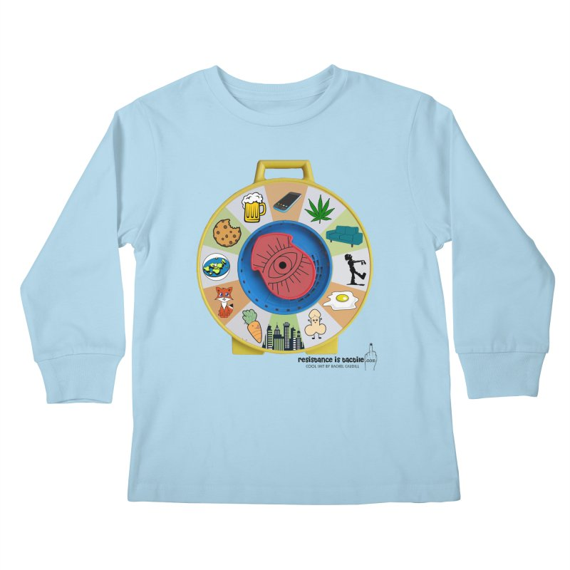 See Something, Say Something Kids Longsleeve T-Shirt by Resistance is Tactile
