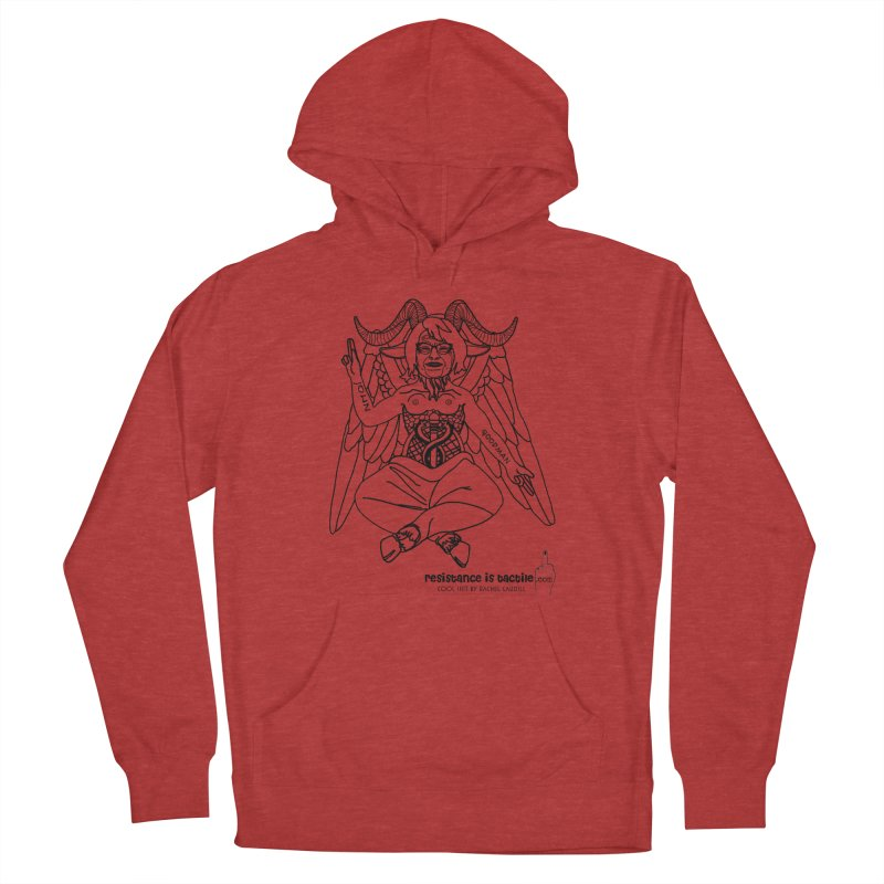 Roseannomet - Light Side Women's French Terry Pullover Hoody by Resistance is Tactile
